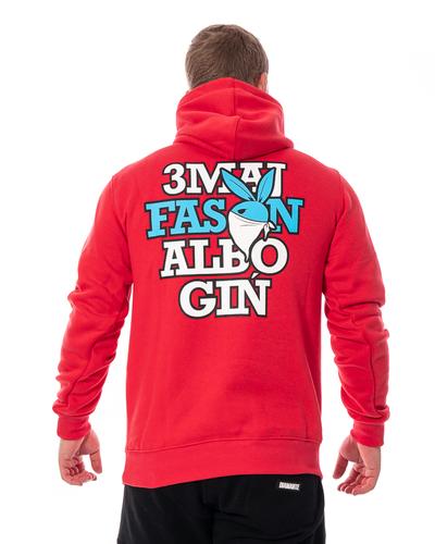 Bluza Z Kapturem 3maj Fason Bunny Czerwona