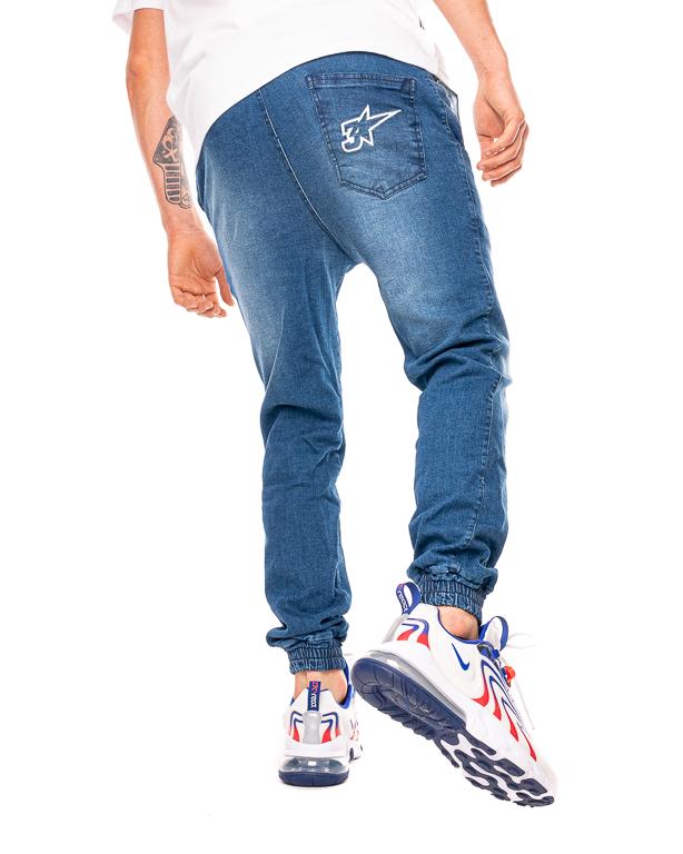 Spodnie Jeans Jogger 3maj Fason Star Ciemnoniebieskie